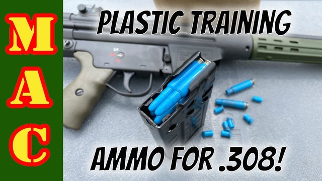 Affordable plastic 308 practice ammo that works like regular ammo DAG 7.62x51.