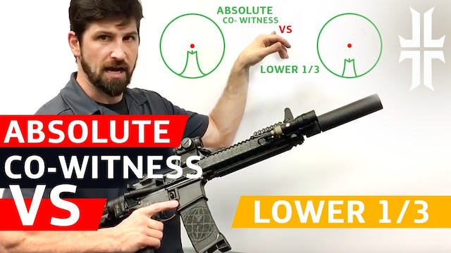 Absolute Co-witness vs. Lower 1/3 Sights