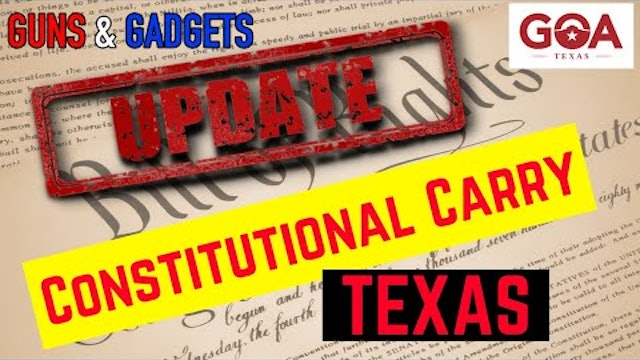 UPDATE Constitutional Carry Moving Forward in Texas