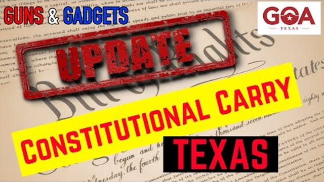 UPDATE Constitutional Carry Moving Fo...