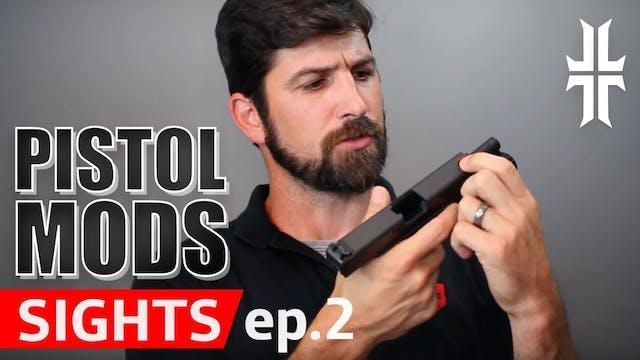 Pistol Mods - Night Sights, Fiber Opt...