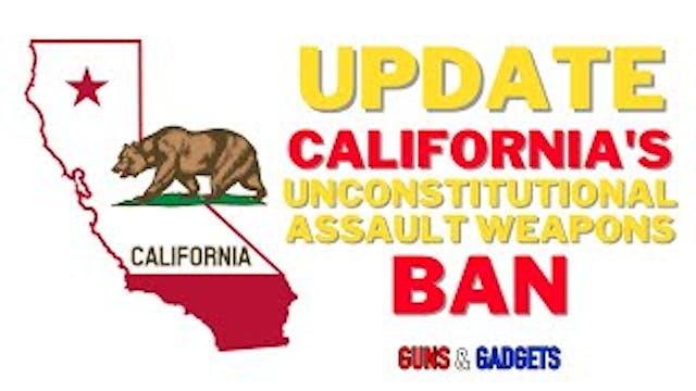 UPDATE on California's Unconstitution...