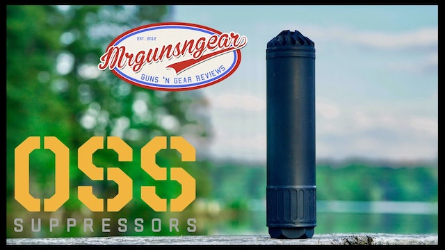 OSS Suppressors 556 Ti Flow Through Silencer With Integral Flash Hider