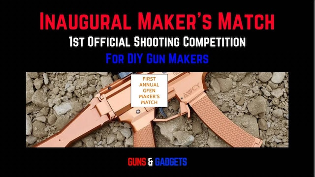 1st Official Shooting Competition for DIY Gun Builders