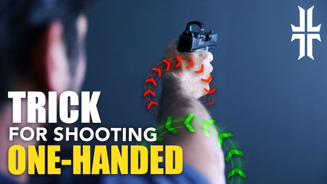 How to Shoot One-Handed | Goofy Technique that WORKS!