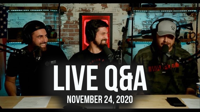 Replay of LIVE Q&A - November 24, 2020