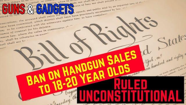 Ban on Handgun Sales to 1820 Year Old...