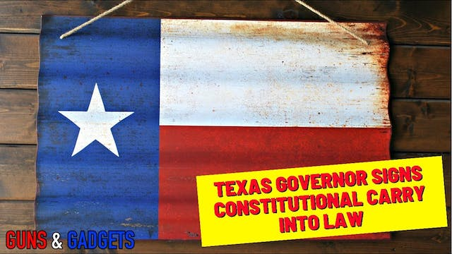 Texas Governor Signs Constitutional C...