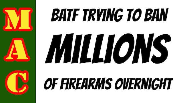 TAKE ACTION_ ATF to ban braces and redefine firearms.