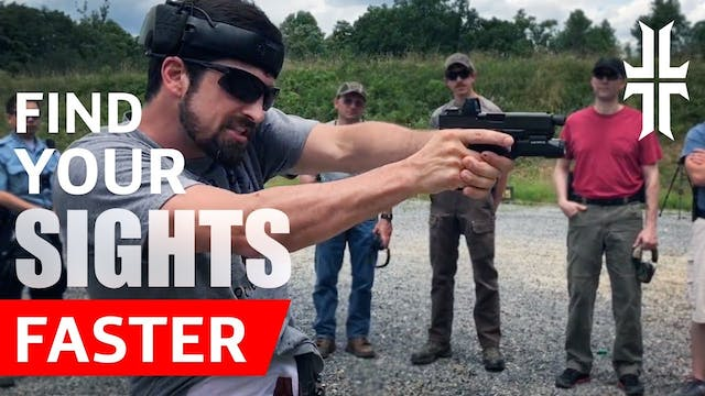 Shooting Tip   Find your Pistol Sight...