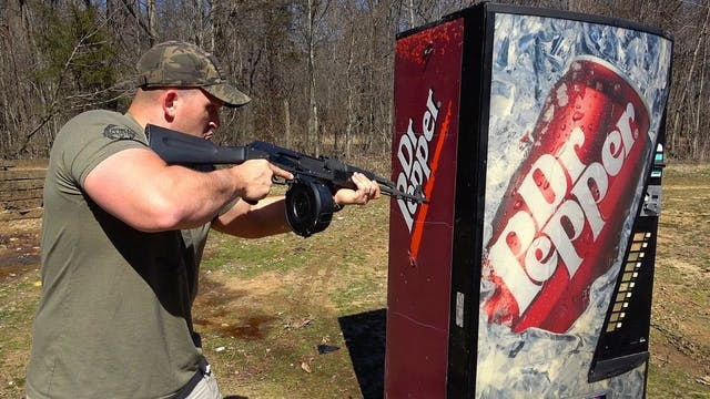 Full Auto AK & 458 Socom vs Soda Mach...