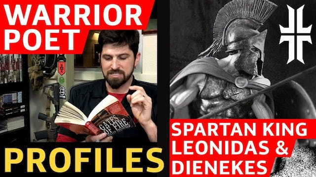 The Spartan King Leonidas and Dienekes