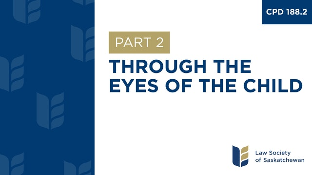 CPD 188 - Through the Eyes of the Child (Part 2)