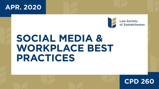 CPD 260 Social Media & Workplace Best...