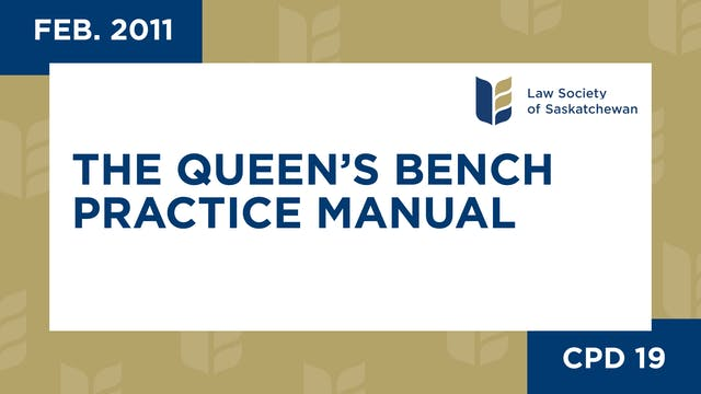 CPD 19 The Queens Bench Practice Manu...