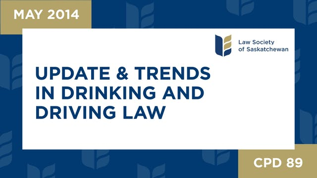 CPD 89 - Update and Trends in Drinkin...