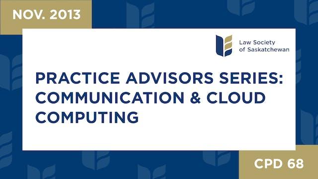 CPD 68 - Practice Advisors Pt 2: Comm...