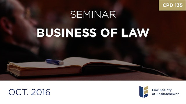 CPD 135 - The Business of Law
