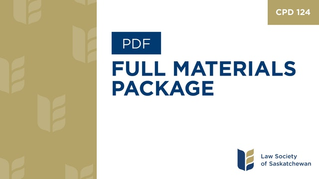 CPD 124 - Family Law Nailing Down the Deal - Program & Materials Package.pdf