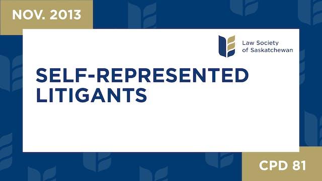 CPD 81 - Self-Represented Litigants (...