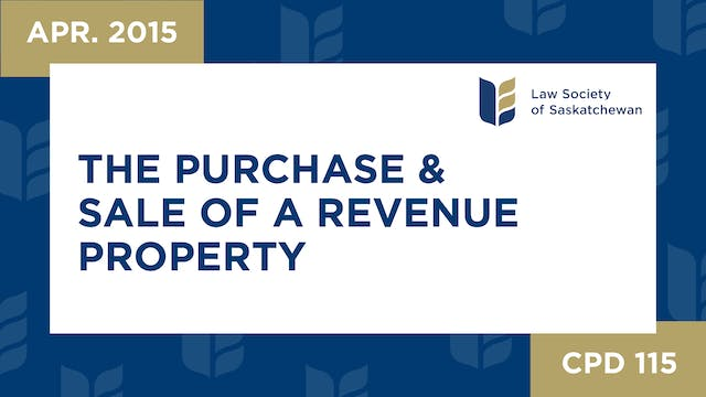 CPD 115 - The Purchase and Sale of a ...