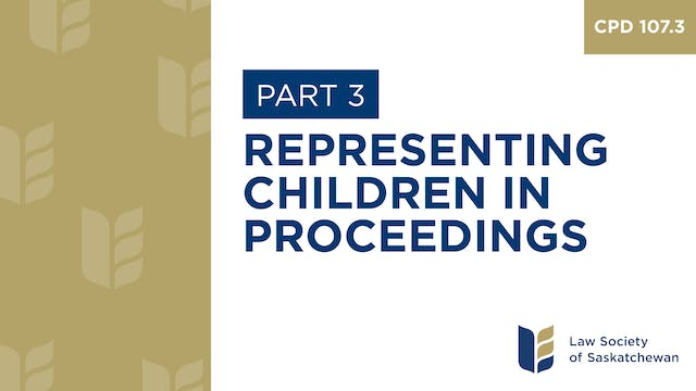 CPD 107 - Representing Children & You...