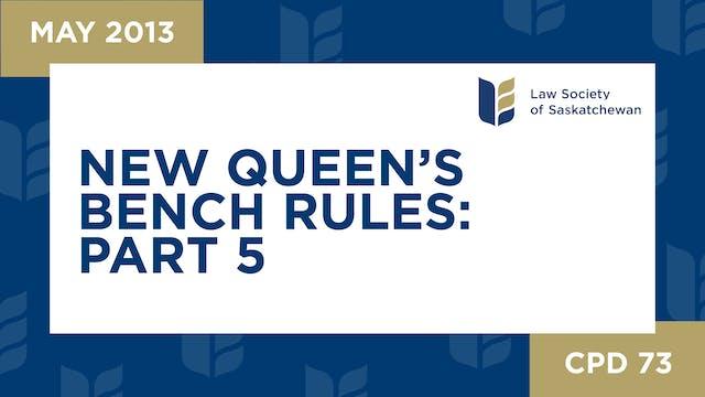 CPD 73 - New QB Rules 5: Duties of La...