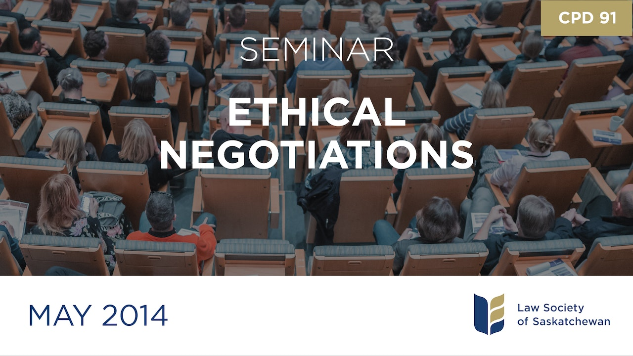 CPD 91 - Ethical Negotiations