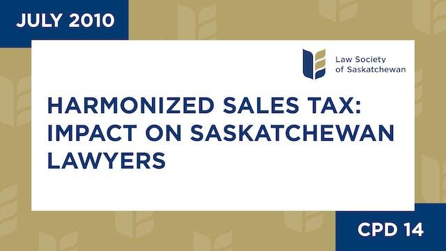 CPD 14 - Harmonized Sales Tax