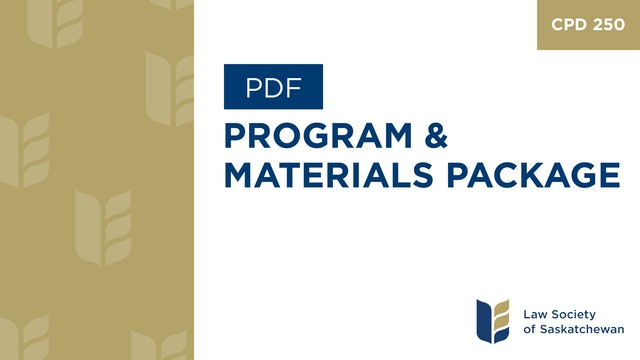 CPD 250 - Technology Academy with Barron-Henley - Program & Materials Package