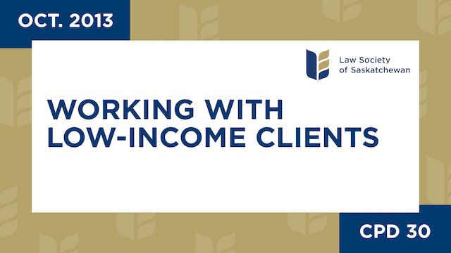 CPD 30 - Working with Low-Income Clie...