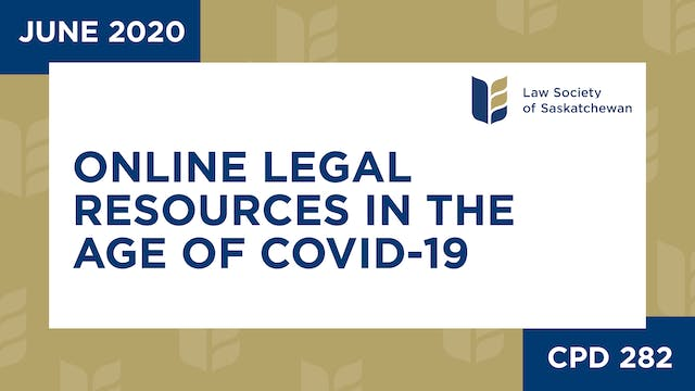 CPD 282 - Online Legal Resources in t...