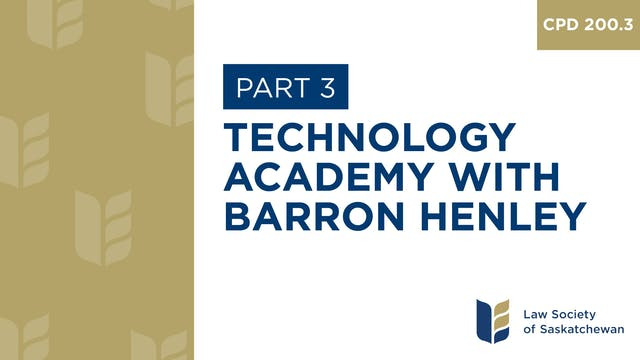 CPD 200 - Technology Academy with Bar...