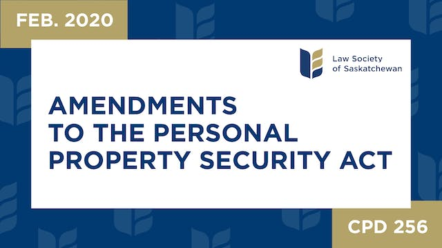 CPD 256 - Amendments to the Personal ...