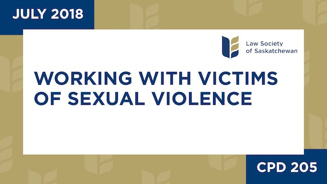 CPD 205 - Working with Victims of Sex...