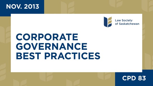 CPD 83 - Corp Governance Best Practic...