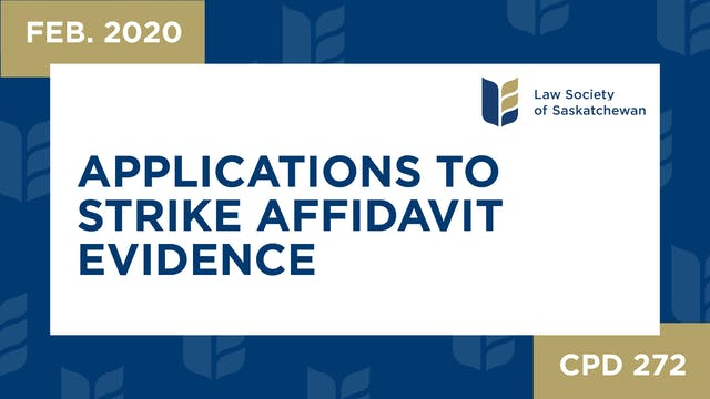 CPD 272 - Applications to Strike Affi...