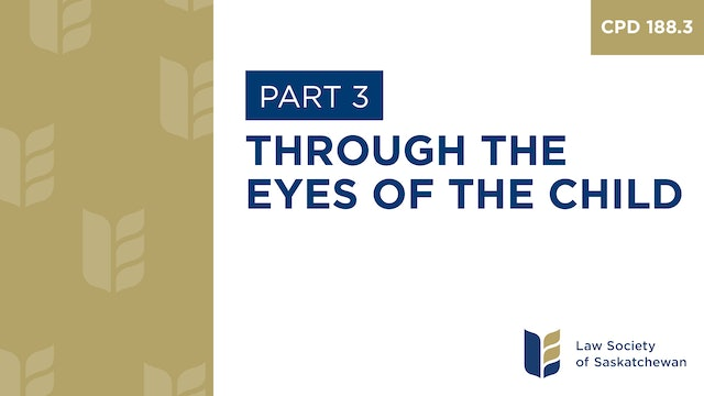 CPD 188 - Through the Eyes of the Child (Part 3)
