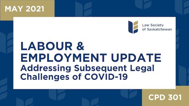 CPD 300 - Labour & Employment Update:...