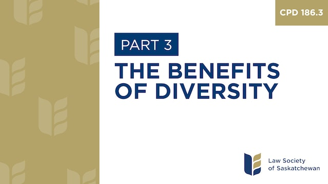CPD 186 - The Benefits of Diversity (Part 3)