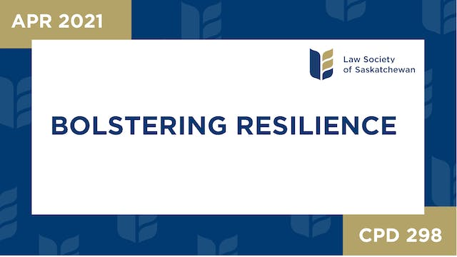 CPD 298 - Bolstering Resilience