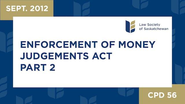 CPD 56 - Enforcement of Money Judgmen...