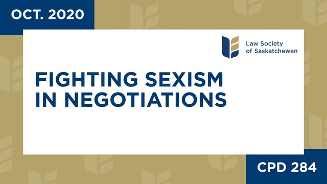 CPD 284 - Fighting Sexism in Negotiations