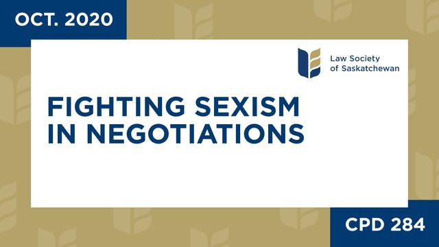 CPD 284 - Fighting Sexism in Negotiat...