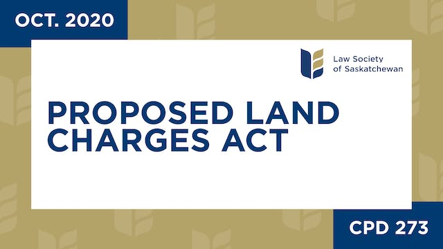 CPD 273 - Proposed Land Charges Act: ...