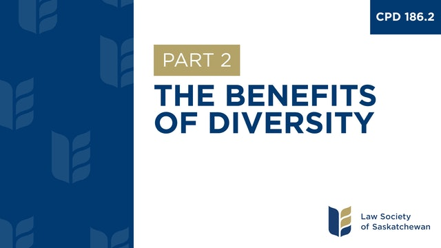 CPD 186 - The Benefits of Diversity (Part 2)