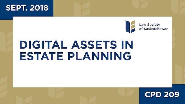 CPD 209 - Digital Assets in Estate Pl...