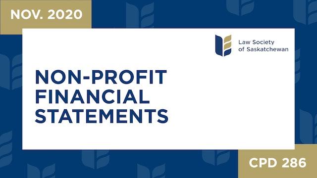 CPD 286 - Non-Profit Financial Statements
