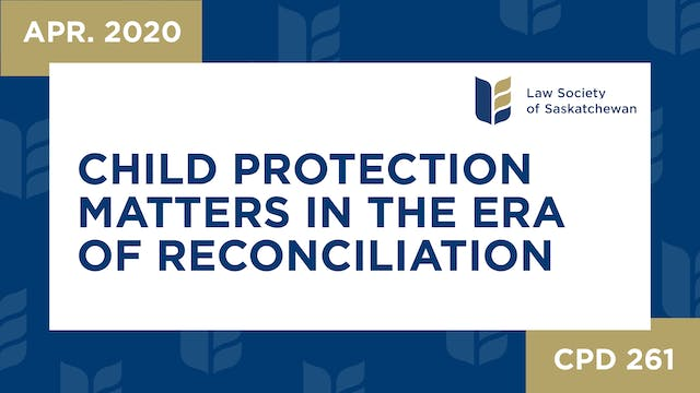CPD 261 - Child Protection Matters in...
