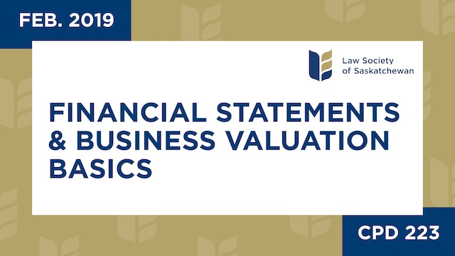 CPD 223 - Financial Statements & Business Valuation Basics